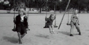 Children on swings