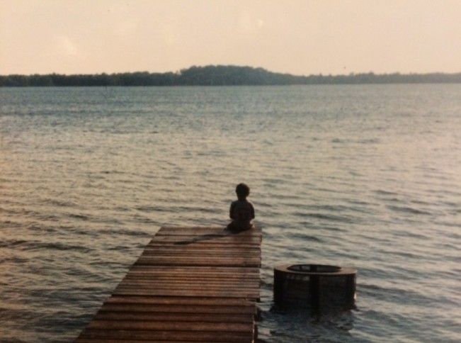 Boy on dock