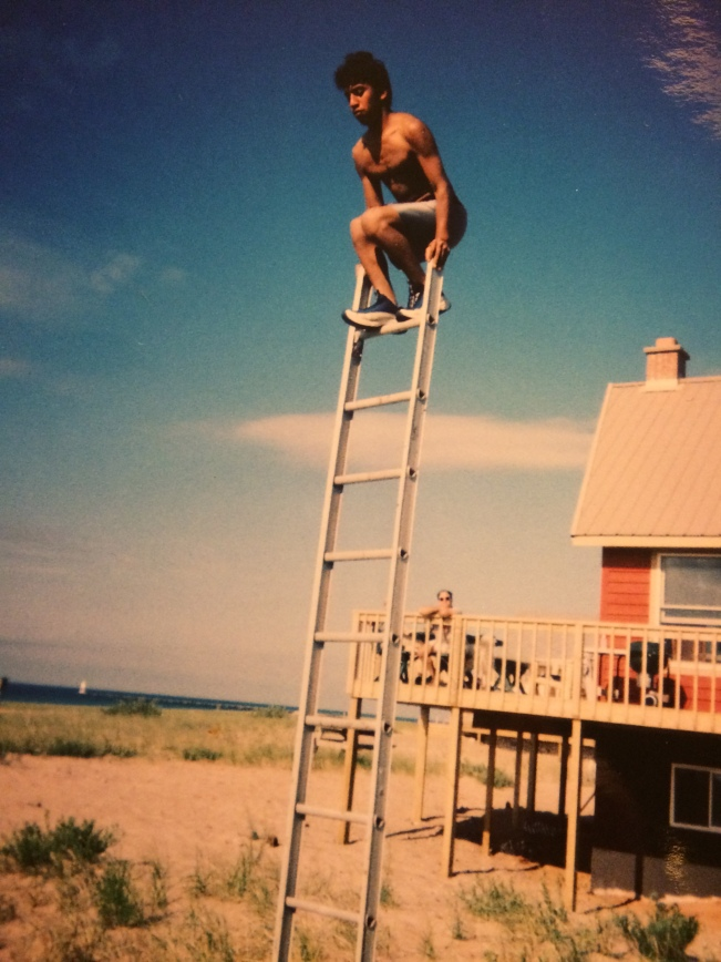 Joe on ladder