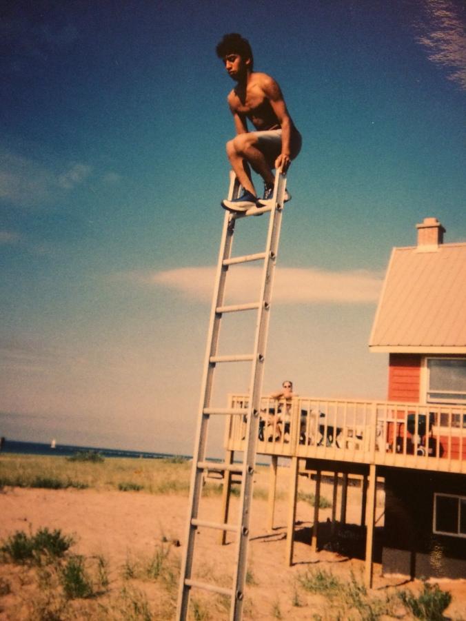 Joe on ladder