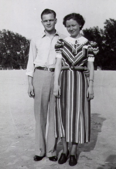 Roy and Virginia at Lake Michigan 1936