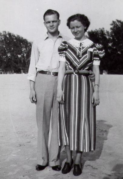 Roy and Virginia at Lake Michigan 1936