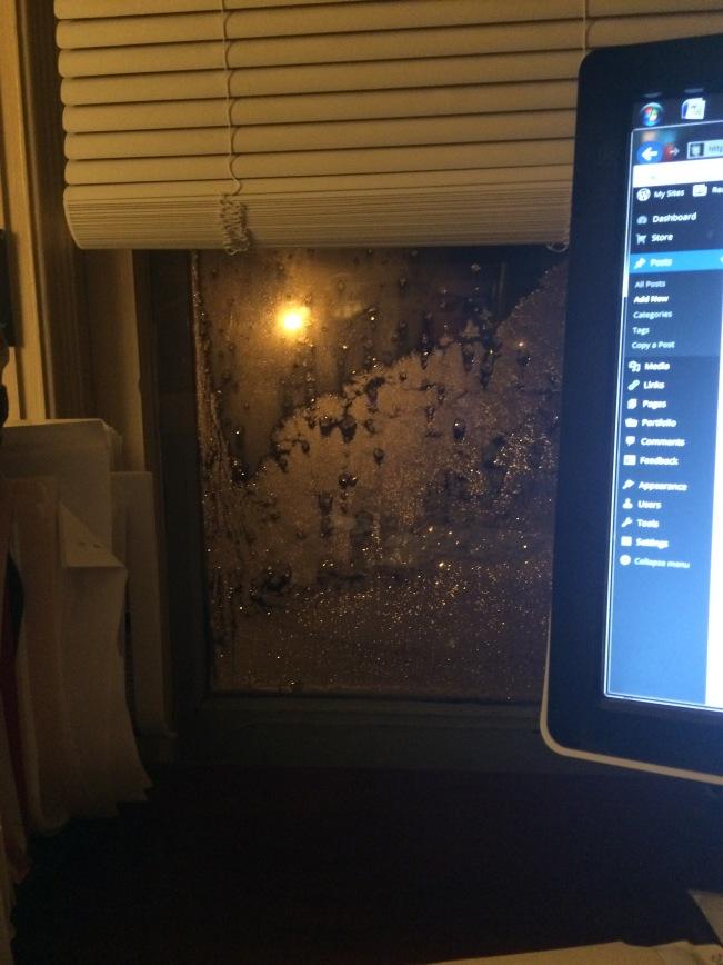 Office window winter