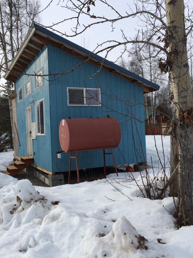 On a side street in Talkeetna, Alaska